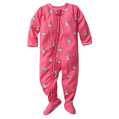 Carter's Ballerina Monkey Footed Pajamas - Toddler
