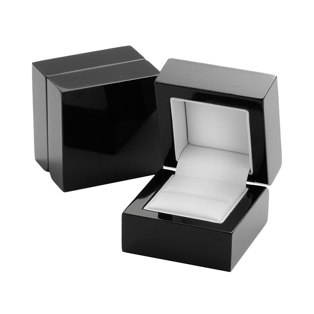 14k White Gold 1/2-ct. T.W. IGL Certified Marquise-Cut Diamond Swirl Ring Set