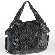 B-Collective by Buxton Leather Glazed Snakeskin Hobo