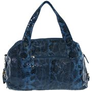 B-Collective by Buxton Glazed Snakeskin Leather Satchel