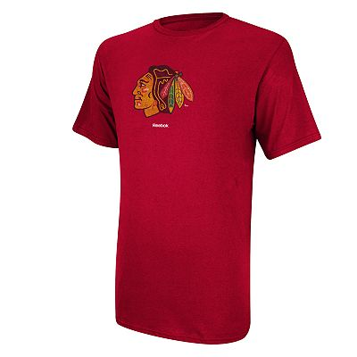 Reebok Chicago Blackhawks Faded Logo Tee