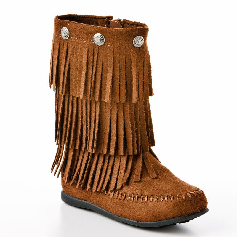 Girls' Toddler Olivea Fringe Boot - Herpes Advicer