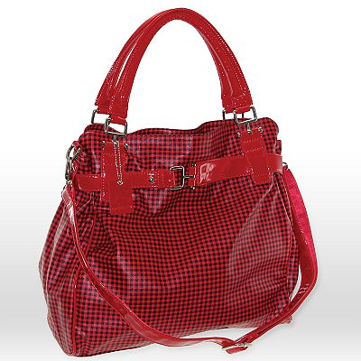 B-Collective by Buxton Checked Belted Tote