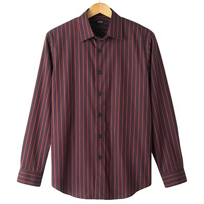 Apt. 9 Ombre-Striped Casual Button-Down Shirt - Big and Tall