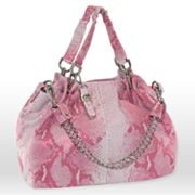 B-Collective by Buxton Snakeskin Leather Satchel
