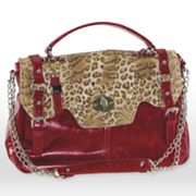 B-Collective by Buxton Leopard Leather Satchel