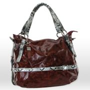 B-Collective by Buxton Glazed Leather Hobo