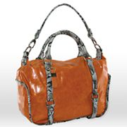B-Collective by Buxton Glazed Leather Satchel