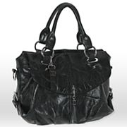 B-Collective by Buxton Draped Leather Satchel