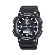 Casio Illuminator Tough Solar Black Resin Analog and Digital Chronograph Watch - AQS810W-1AVCF - Men