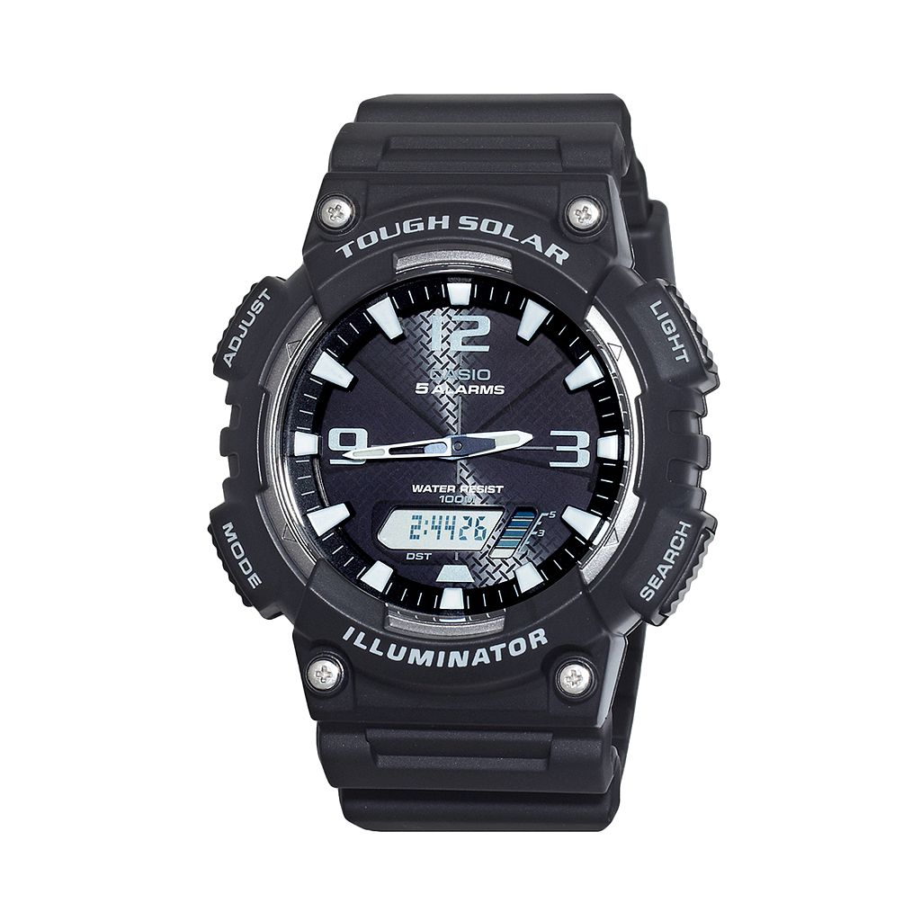 Casio Men's Tough Solar Illuminator Analog & Digital Chronograph Watch