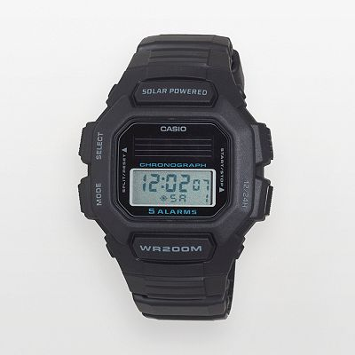 Casio Solar Black Resin Digital Chronograph Watch - HDDS100-1AVCF - Men