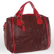 B-Collective by Buxton Embossed Checked Leather Satchel