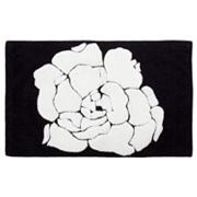 Creative Bath Black and White Bath Rug