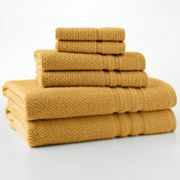 Quick-Drying Textured 6-pc. Bath Towel Set
