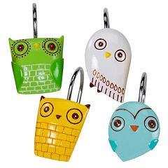 Creative Bath Give A Hoot 12 pkShower Curtain Hooks