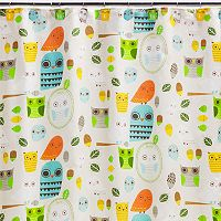 Creative Bath Give A Hoot Fabric Shower Curtain