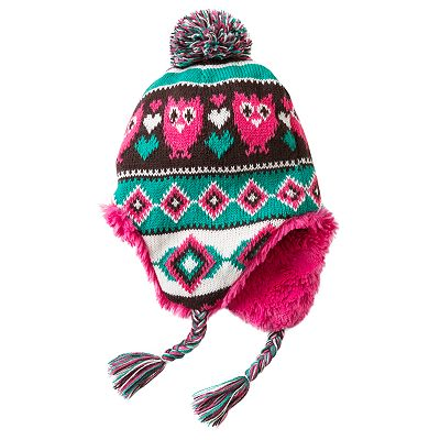 Owl Friends Jacquard Hat - Girls