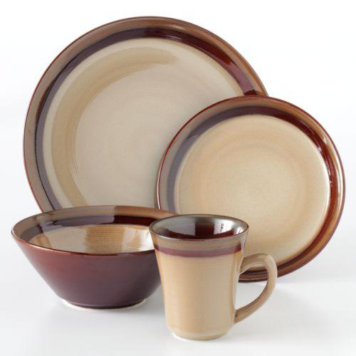 Sango Carousel Brown 16-pc. Dinnerware Set