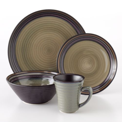 Sango Tropica Black 16-pc. Dinnerware Set