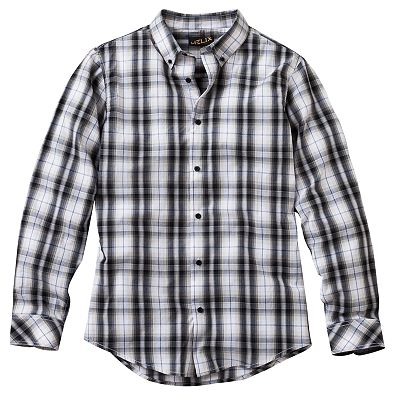 Helix Modern-Fit Plaid Shirt