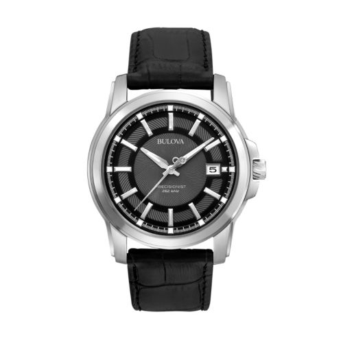 Bulova Precisionist Langford Stainless Steel Leather Watch - 96B158 - Men