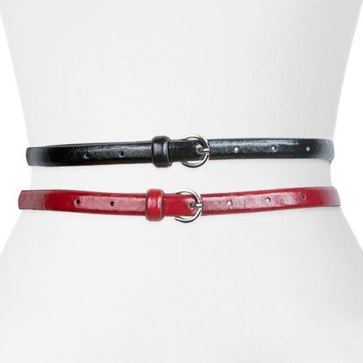 Apt. 9® Skinny Belt Set