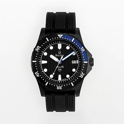 Bulova Marine Star Stainless Steel Black Ion Dive Watch - 98B159 - Men