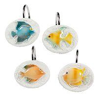 Creative Bath Rainbow Fish 12 pkShower Curtain Hooks