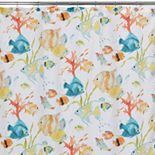 Creative Bath Rainbow Fish Fabric Shower Curtain