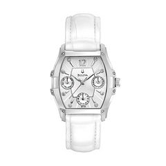 Bulova Watch - Women's Wintermoor White Leather - 96P126