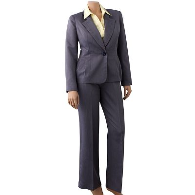 Pleated Suit Jacket and Pant Set