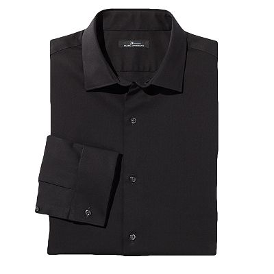 Marc Anthony Slim-Fit Textured Spread-Collar French Cuff Dress Shirt