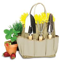 Picnic Time 4 pc Garden Tote & Tool Set