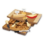 Picnic Time Concavo 8 pc Bamboo Cheese Board Set