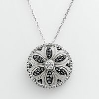 Artistique Sterling Silver Crystal Flower Pendant - Made with Swarovski Crystals