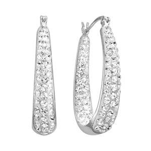 Hoop Earrings Made With Swarovski Crystals 21