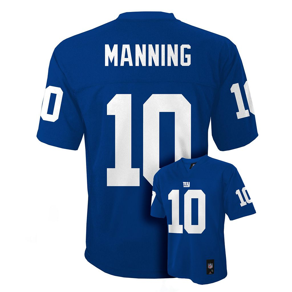 Boys 8-20 New York Giants Eli Manning NFL Replica Jersey