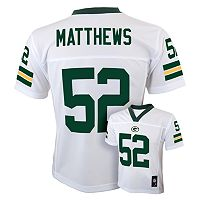 Boys 8-20 Green Bay Packers Clay Matthews NFL Replica Jersey