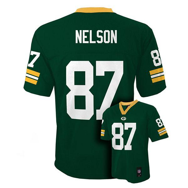 Boys 8-20 Green Bay Packers Jordy Nelson NFL Replica Jersey