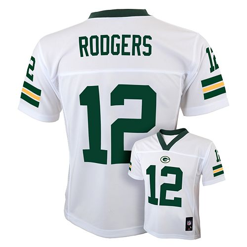 Boys 8-20 Green Bay Packers Aaron Rodgers NFL Replica Jersey 226de7a1d