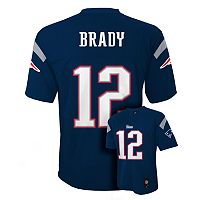 Boys 8-20 New England Patriots Tom Brady NFL Replica Jersey