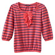 Chaps Striped Bubble Top - Girls 7-16