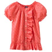 Chaps Floral Smocked Top - Girls 7-16
