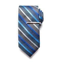 Men's Apt. 9® Solid Satin Tie with Tie Bar