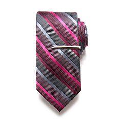 Apt. 9® Solid Satin Tie with Tie Bar