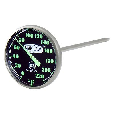 Man Law BBQ Instant Read Glow-In-The-Dark Meat Thermometer