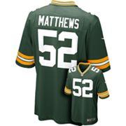 Men's Nike Green Bay Packers Clay Matthews Game NFL Replica Jersey
