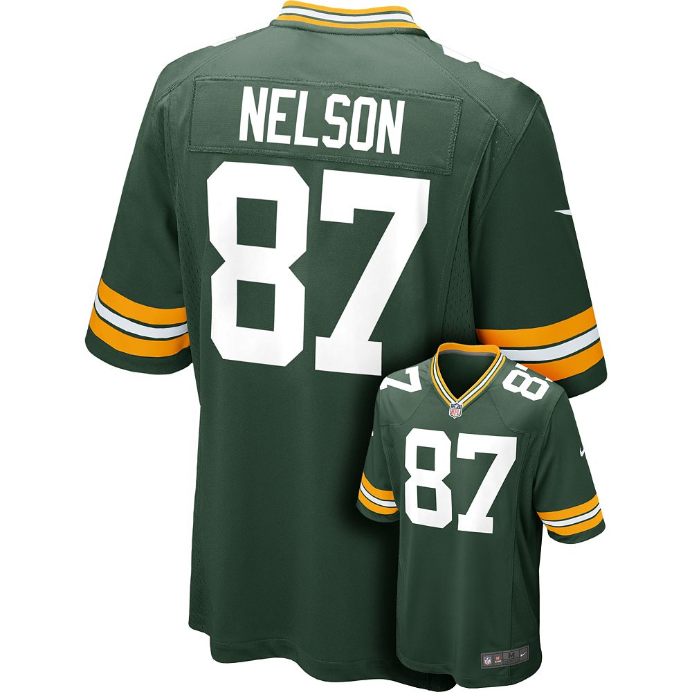 2257049f0 ... Mens Nike Green Bay Packers Jordy Nelson Game NFL Replica Je ...