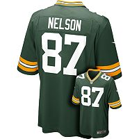 Men's Nike Green Bay Packers Jordy Nelson Game NFL Replica Jersey